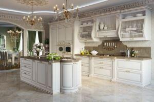 Кухня Катрин белая с островом - Мебельная фабрика «GRETA»