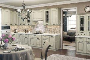 Кухня классическая Дита с патиной - Мебельная фабрика «Кухонный двор» г. Малаховка