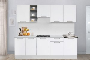 Кухня классика белая 2300 - Мебельная фабрика «Боровичи-Мебель»