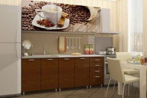 Коричневая кухня Кофе с фотопечатью - Мебельная фабрика «Д.А.Р. Мебель»