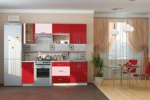 Кухня красная - Мебельная фабрика «RealMebel»