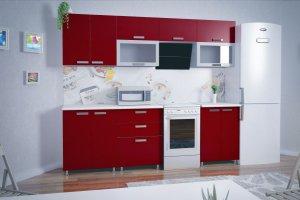 Кухня Красная прямая - Мебельная фабрика «РиАл», г. Волжск