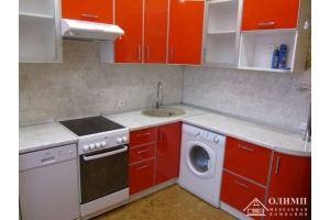Кухня красная угловая Екатерина 11 - Мебельная фабрика «ОЛИМП»