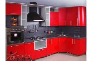 Кухня красная Жаклин - Мебельная фабрика «Меркурий»