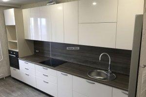 Белая лаконичная кухня - Мебельная фабрика «Кухни OLLI»
