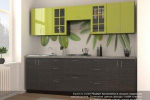 Кухня Лайм - Мебельная фабрика «Континент-мебель»