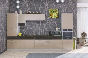 Кухня ЛДСП Адель белый глянец/Дуб тортуга - Мебельная фабрика «ARC мебель»