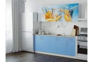 Кухня ЛДСП фотопечать Апельсин - Мебельная фабрика «Милайн»