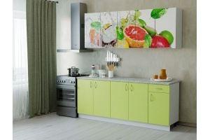 Кухня ЛДСП фотопечать Фреш - Мебельная фабрика «Милайн»