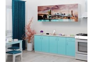 Кухня ЛДСП фотопечать Город - Мебельная фабрика «Милайн»