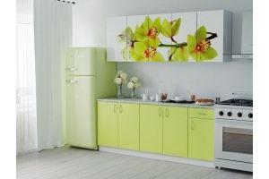 Кухня ЛДСП фотопечать Орхидея - Мебельная фабрика «Милайн»