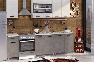 Кухня ЛДСП Рио Бетон светлый Бетон темный - Мебельная фабрика «МиФ»