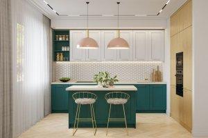 Кухня Лея с островом - Мебельная фабрика «ВерноКухни»