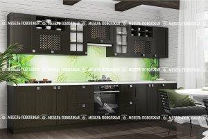 Кухня Лотос из массива Венге - Мебельная фабрика «Мебель Поволжья»