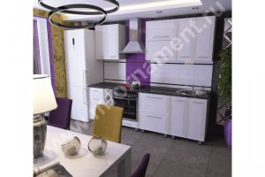 Кухня Люкс с 3D фасадами Фрезеровка Арт Деко - Мебельная фабрика «Орнамент»