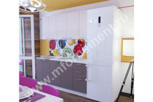 Кухня Люкс с 3D вставками на верхних фасадах - Мебельная фабрика «Орнамент»