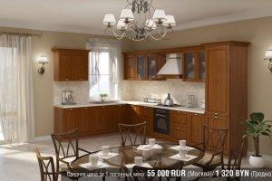 Кухня массив Flavia Deco - Мебельная фабрика «AlvaLINE»