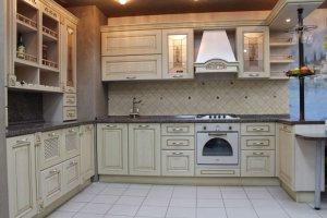 Кухня массив ЯСЕНЬ 4 - Мебельная фабрика «Омега»