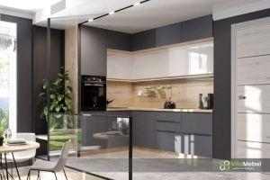 Кухня матовый МДФ в цвете Графит - Мебельная фабрика «Вита-мебель»
