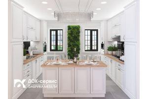 Кухня МДФ эмаль - Мебельная фабрика «ДОК-Сервис»