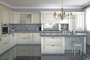 Кухня МДФ эмаль Аворио - Мебельная фабрика «MipoLine»