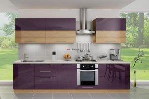 Кухня МДФ Фиолетовый закат - Мебельная фабрика «MaxiКухни» г. Санкт-Петербург