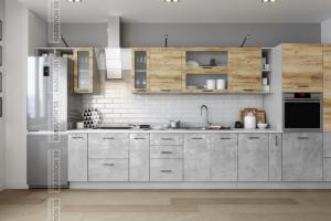 Кухня МДФ Лофт - Мебельная фабрика «Вавилон 58»