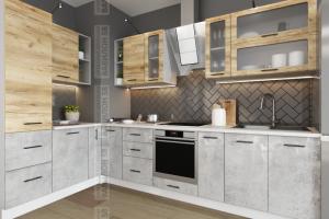 Кухня МДФ Лофт угловая - Мебельная фабрика «Вавилон 58»