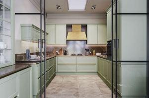 Кухня МДФ п-образная Пикарди - Мебельная фабрика «ГеосИдеал»