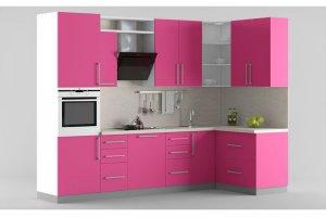 Кухня МДФ розовая - Мебельная фабрика «Идея комфорта»