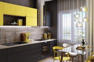 Кухня МДФ в эмали с интегрированной ручкой - Мебельная фабрика «Омега»