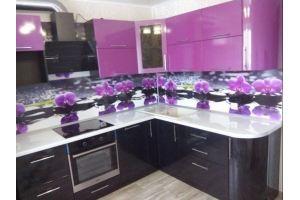 Кухня МДФ в ПВХ Орхидея - Мебельная фабрика «Люкс-С»