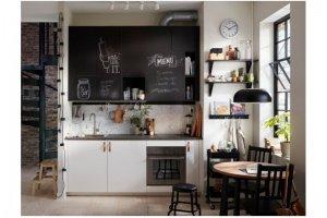 Кухня мини эмаль Хъелин - Мебельная фабрика «Виктория»