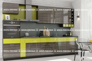 Кухня модная Ореол из МДФ - Мебельная фабрика «Мебель Поволжья»