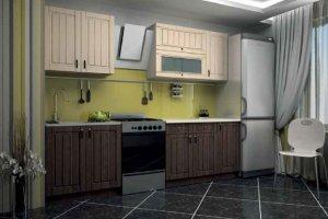 Кухня модульная прямая 2 - Мебельная фабрика «Первомайское»