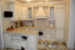 Кухня на заказ из массива ясеня - Мебельная фабрика «Курдяшев-мебель»