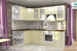 Кухня Ника-1 фасад Ореол - Мебельная фабрика «МАРИБЕЛЬ»