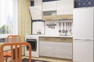 Кухня прямая ЛДСП Николь 1 - Мебельная фабрика «Пирамида»