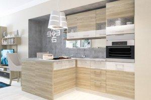 Кухня прямая с полуостровом Николь 10 - Мебельная фабрика «Пирамида»