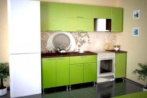 Кухня Олимпия 1 зеленая - Мебельная фабрика «РиАл», г. Волжск