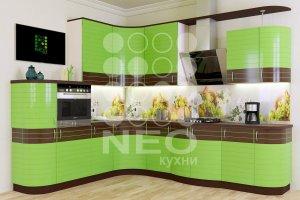 Кухня Оливия с отделкой из шпона - Мебельная фабрика «Нео Кухни»