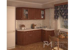 Кухня ОРЕХ КВАДРО 2 УГЛОВАЯ - Мебельная фабрика «Ревдамебель»
