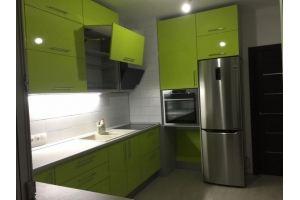 Кухня п-образная глянец - Мебельная фабрика «Вектор-М»