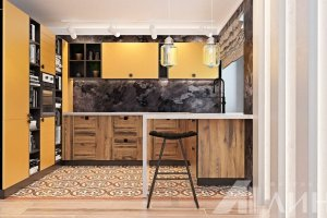 Кухня п-образная Гранд - Мебельная фабрика «Линда»