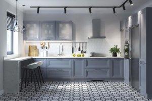 Кухня п-образная Манчестер Колор - Мебельная фабрика «MipoLine»