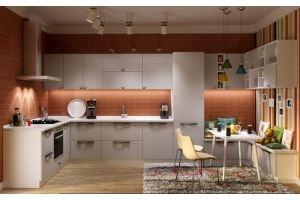 Кухня п-образная МДФ Boston - Мебельная фабрика «AlvaLINE»
