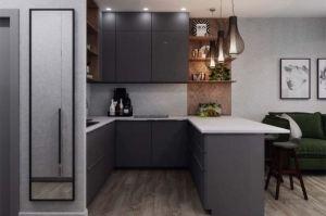 Кухня п-образная под потолок - Мебельная фабрика «ЮЛИС»