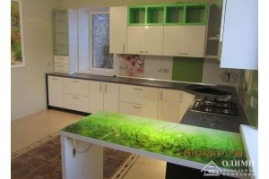 Кухня п-образная угловая Мелания 02 - Мебельная фабрика «ОЛИМП»
