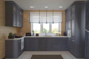 Кухня п-образная в стиле Прованс - Мебельная фабрика «Акварель»