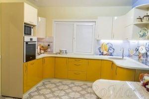 Кухня п-образная желтая МДФ - Мебельная фабрика «RoMari»